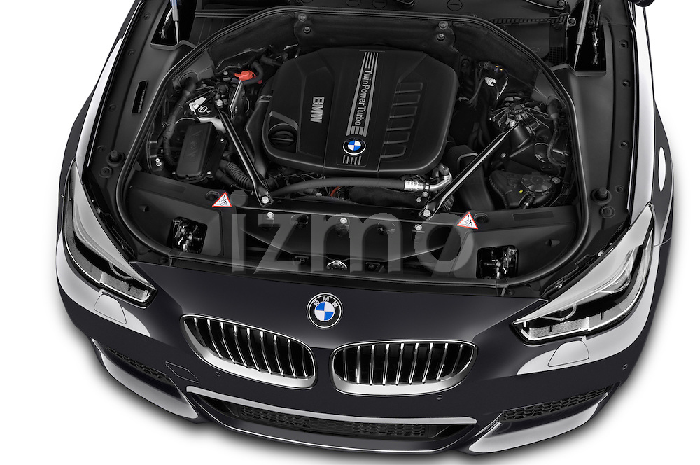 Car Stock2015 BMW SERIES 5 M Sport 2WD AT 5 Door Hatchback 2WD Engine high angle detail view