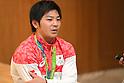 Japanese gymnasts return from Rio 2016
