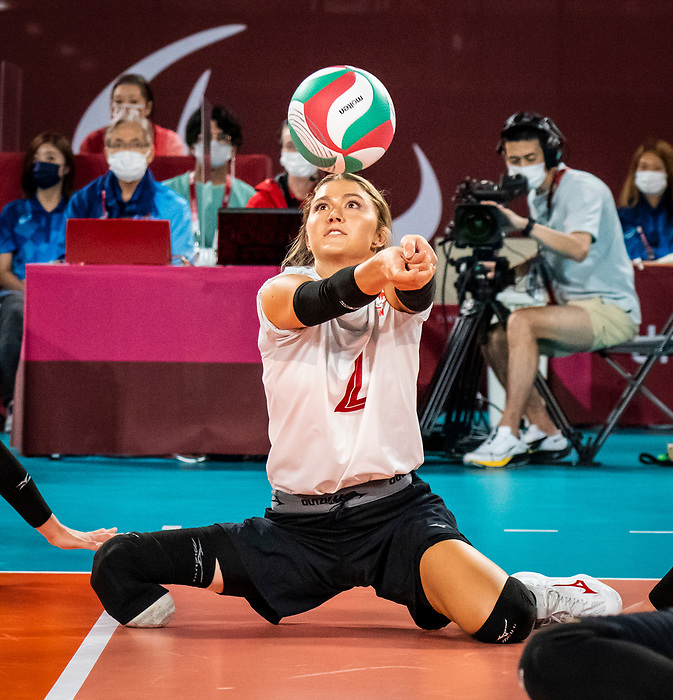 Jennifer Oakes, Tokyo 2020 - Sitting Volleyball // Volleyball Assis.<br /> Canada takes on Japan in sitting volleyball // Le Canada affronte le Japon en volleyball assis. 09/01/2021.