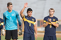 BERKELEY, CA - October 13, 2016: Nick Lima waves during introductions. Cal played UCLA at Edwards Stadium.