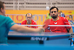 Toronto, ON - Aug 8 2015 -  Asad Murtaza competes in Group B MS3 table tennis in the ATOS Markham Parapan Centre during the Toronto 2015 Parapan American Games  (Photo: Matthew Murnaghan/Canadian Paralympic Committee)