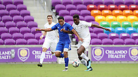 Orlando, Florida - Saturday January 13, 2018: Niko DeVera and Will Bagrou. Match Day 1 of the 2018 adidas MLS Player Combine was held Orlando City Stadium.