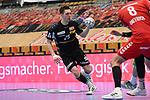 Essens Müller / Mueller, Justin am Ball beim Spiel in der Handball Bundesliga, Die Eulen Ludwigshafen - Tusem Essen.<br /> <br /> Foto © PIX-Sportfotos *** Foto ist honorarpflichtig! *** Auf Anfrage in hoeherer Qualitaet/Aufloesung. Belegexemplar erbeten. Veroeffentlichung ausschliesslich fuer journalistisch-publizistische Zwecke. For editorial use only.