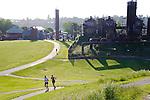 Seattle, women runners, Gasworks Park, Lake Union,