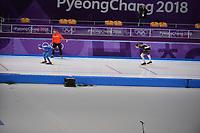 OLYMPIC GAMES: PYEONGCHANG: 15-02-2018, Gangneung Oval, Long Track, 10.000m Men, Seung-Hoon Lee (KOR), Moritz Geisreiter (GER), ©photo Martin de Jong