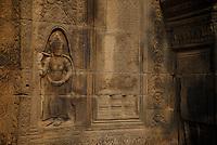 Apsara figurine at Prasat Taprom and Tonle Bati, Cambodia