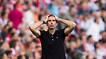 Head coach Gaizka Garitano of Deportivo la Coruna reacts during their La Liga match between Atletico Madrid and Deportivo de la Coruna at the Vicente Calderon Stadium on 25 September 2016 in Madrid, Spain. Photo by Diego Gonzalez Souto / Power Sport Images