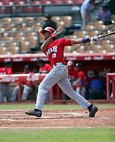 Eduarqui Fernandez participates in the MLB International Showcase at Estadio Quisqeya on February 22-23, 2017 in Santo Domingo, Dominican Republic.