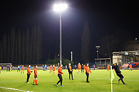 Woluwe players warming up before a female soccer game between FC Femina White Star Woluwe and AA Gent Ladies on the 13 th matchday of the 2020 - 2021 season of Belgian Scooore Womens Super League , friday 5 th of February 2021  in Woluwe , Belgium . PHOTO SPORTPIX.BE | SPP | SEVIL OKTEM