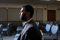 Ali Malik, an Army veteran from Queens, New York, met with a number of employers including Uber at the Recovering Warrior Employment Conference at the Back Bay Event Center in Boston, Massachusetts, USA.  The employment conference was organized by Hiring Our Heroes and Wounded Warrior Project. Hiring Our Heroes is an initiative of the US Chamber of Commerce Foundation. Approximately 40 veterans registered for the event, during which they had interviews with a number of different regional and national employers, including GE, Bank of America, Uber, and others.