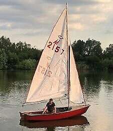 Tom's first command – the Miracle dinghy was a rarity in Ireland.