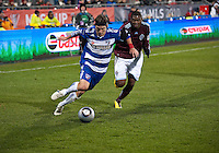 21 November 2010: FC Dallas defender Zach Loyd #19 battles with Colorado Rapids defender Anthony Wallace #6 during the 2010 MLS CUP between the Colorado Rapids and FC Dallas at BMO Field in Toronto, Ontario Canada..The Colorado Rapids won 2-1 in extra time....