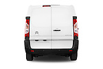 Straight rear view of a 2015 Citroen Jumpy L1H1 Ft10 4 Door Cargo Van stock images
