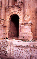 Jordan, The Middle East. Jerash. .( Ancient Gerasa ) Hadrians Arch