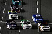 #24: Brett Moffitt, GMS Racing, Chevrolet Silverado Junior Johnson Midnight Moon Moonshine, #4: Todd Gilliland, Kyle Busch Motorsports, Toyota Tundra Mobil 1 and #45: Ross Chastain, Niece Motorsports, Chevrolet Silverado TruNorth/Paul Jr. Designs