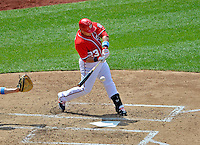 17 June 2012: Washington Nationals catcher Jhonatan Solano in action against the New York Yankees at Nationals Park in Washington, DC. The Yankees defeated the Nationals 4-1 to sweep their 3-game series. Mandatory Credit: Ed Wolfstein Photo