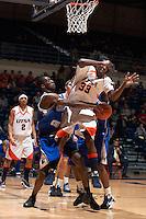 SAN ANTONIO, TX - FEBRUARY 18, 2009: The Texas A&M University Corpus Christi Islanders vs. The University of Texas at San Antonio Roadrunners Men's Basketball at the UTSA Convocation Center. (Photo by Jeff Huehn)