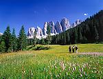 Italy, South Tyrol, Alto Adige, Dolomites, Val di Funes: Le Odle mountains at natural park Puez-Odle | Italien, Suedtirol, Dolomiten, Villnoess Tal: Geislergruppe im Naturpark Puez-Geisler