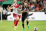 Crystal Palace midfielder Andros Townsend (R) is followed by West Bromwich Albion defender Ahmed Hegazy (L) during the Premier League Asia Trophy match between West Bromwich Albion and Crystal Palace at Hong Kong Stadium on 22 July 2017, in Hong Kong, China. Photo by Weixiang Lim / Power Sport Images