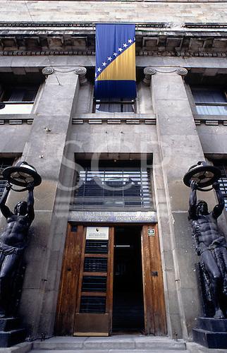 Sarajevo, Bosnia and Herzegovina. The building of the Central Bank of Bosnia and Herzegovina.