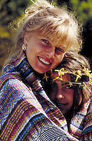 Pretty as a flower 2 Portrait of mother and teenage daughter. Mother & daughter. Douglaston NY.