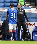 25.07.2020 Rangers v Coventry City: Steven Gerrard and Borna Barisic