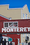 Monterey, CA<br /> Historic buildings and signed skybridges spanning Cannery Row