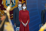 Queen Letizia of Spain during the act on the occasion of the festival of 'San Juan Bautista', Patron of the Municipal Police of Madrid. June 24, 2021 (ALTERPHOTOS/Acero)
