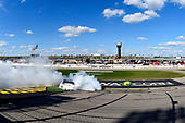 NASCAR XFINITY Series<br /> U.S. Cellular 250<br /> Iowa Speedway, Newton, IA USA<br /> Saturday 29 July 2017<br /> Ryan Preece, MoHawk Northeast Inc. Toyota Camry celebrates his win with a burnout<br /> World Copyright: Russell LaBounty<br /> LAT Images