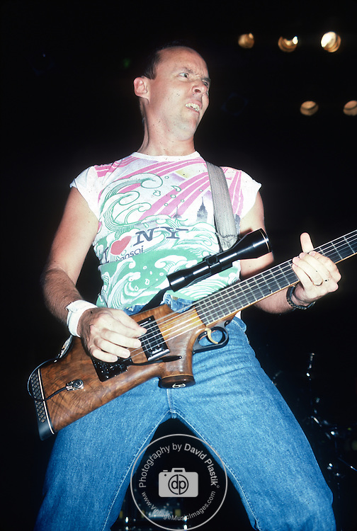 Ronnie Montrose with Rifle Guitar 1986 .