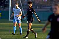 Portland, OR - Sunday March 11, 2018: Simone Charley during a National Women's Soccer League (NWSL) pre season match between the Portland Thorns FC and the Chicago Red Stars at Merlo Field.