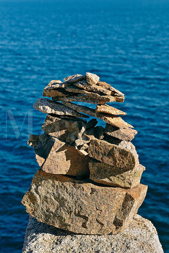 Sea cairn, Acadia, Maine