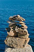Sea cairn, Acadia, Maine