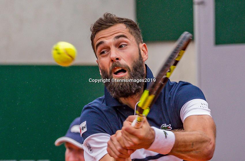 Paris, France, 3 june, 2019, Tennis, French Open, Roland Garros, Benoit Paire (FRA)<br /> Photo: Henk Koster/tennisimages.com
