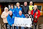 Michael Fox Connor presents a cheque for €10,055 to the Kerry Hospice Palliative Care in the Brogue Inn on Monday from the Bill Kirby Memorial Walk.<br /> Seated l to r: Michael Fox Connor, Joe Hennebry and Fiona Kirby Cotter.<br /> Back l to r: Ciss O'Connor, Mary Shanahan, Mairead Fernane, Mark Leen, Gda Seamus Moriarty and Michael Gaffney.
