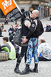© Joel Goodman - 07973 332324  . 02/10/2011 . Manchester, UK . Protesters against the government in Albert Square in Manchester City Centre during the 2011 Conservative Party Conference at the Manchester Central Convention Centre (formerly GMex) . Photo credit: Joel Goodman