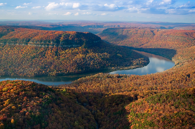 Autumn colors over Tennessee River Gorge