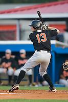 Bluefield second baseman Michael Gioioso (13) at bat versus Burlington at Burlington Athletic Park in Burlington, NC, Monday, August 6, 2007.