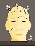 Conceptual image of migraine