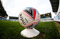 21st November 2020; The Den, Bermondsey, London, England; English Championship Football, Millwall Football Club versus Cardiff City; EFL Mitre Delta Max football on a cone on the pitch for players only