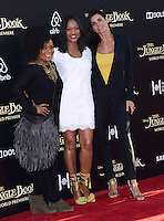 Angie Harmon + Garcelle Beauvais + Yvette Nicole Brown @ the premiere of 'The Jungle Book' held @ El Capitan theatre.<br /> April 4, 2016