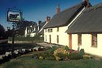 The Village Pub. The Black Bull. Etal, Northumberland. England. 1991 1990s UK