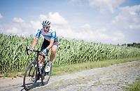 Nils Politt (DEU/Israel - StartUp Nation)<br /> <br /> reconnaissance of the (delayed, due to the Covid19 pandemic) Paris-Roubaix course by Team Israel - StartUp Nation <br /> <br /> Nord-Pas de Calais region (FRA), 17 july 2020<br /> ©kramon