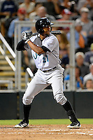 Jupiter Hammerheads outfielder Isaac Galloway #27 during a game against the Fort Myers Miracle on April 9, 2013 at Hammond Stadium in Fort Myers, Florida.  Fort Myers defeated Jupiter 1-0.  (Mike Janes/Four Seam Images)