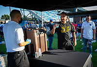 SAN JOSE, CA - SEPTEMBER 4: El Jimador before a game between Colorado Rapids and San Jose Earthquakes at PayPal Park on September 4, 2021 in San Jose, California.