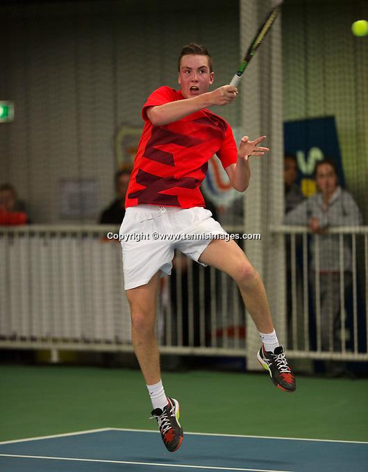 Rotterdam, The Netherlands, March 20, 2016,  TV Victoria, NOJK 14/18 years, Stein Janssen  (NED)<br /> Photo: Tennisimages/Henk Koster