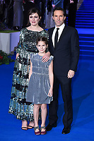 """Emily Mortimer, Alessandro Nivola and daughter May<br /> arriving for the """"Mary Poppins Returns"""" premiere at the Royal Albert Hall, London<br /> <br /> ©Ash Knotek  D3467  12/12/2018"""
