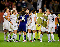 Aya Miyama, Alex Morgan.  Japan won the FIFA Women's World Cup on penalty kicks after tying the United States, 2-2, in extra time at FIFA Women's World Cup Stadium in Frankfurt Germany.