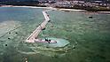 Construction of U.S. base Marine Corps Futenma Air Station in Okinawa