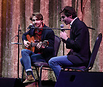 Daniel Lazour and Patrick Lazour on stage at the Dramatists Guild Foundation 2018 dgf: gala at the Manhattan Center Ballroom on November 12, 2018 in New York City.